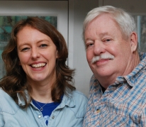 Rosie with author Armistead Maupin