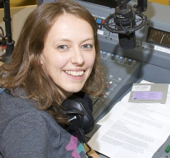 Rosie Wilby in the Resonance FM studio Photo: Mike Kear
