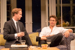 Geoffrey Streatfeild (Daniel) and Julian Ovenden (John) in  My Night With Reg.  Photo: Johan Persson