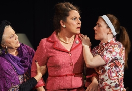 Janet Amsde, Sioned Jones and Briony Rawle in The Killing of Sister George photo: Ashley Carter