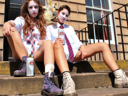 Louise Mothersole and Rebecca Biscuit - Image: Shit Theatre